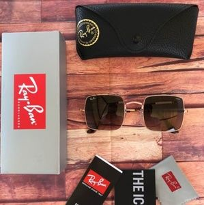 ⚠️60% OFF AUTHENTIC RAY BAN SQUARE